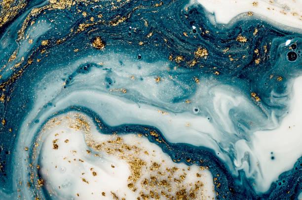 natürlicher luxus. antike orientalische zeichentechnik. art enthält die drallklappen aus marmor oder die wellen aus achat. - ozean kunst stock-fotos und bilder
