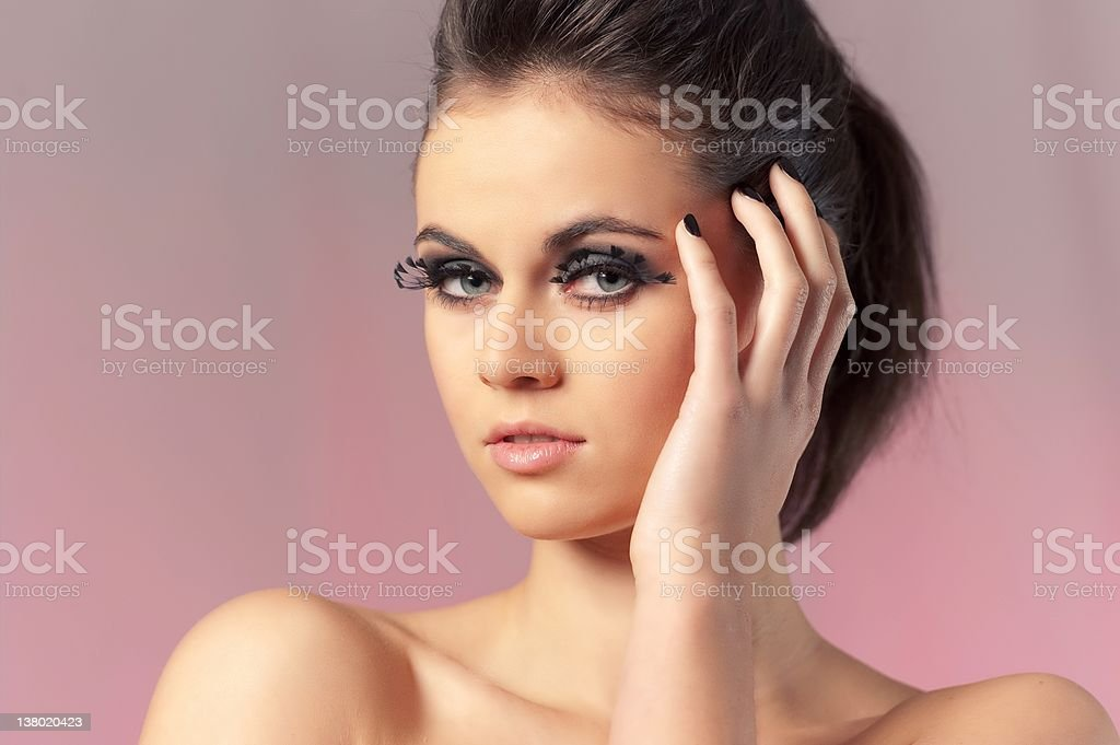 Natural Make-Up royalty-free stock photo