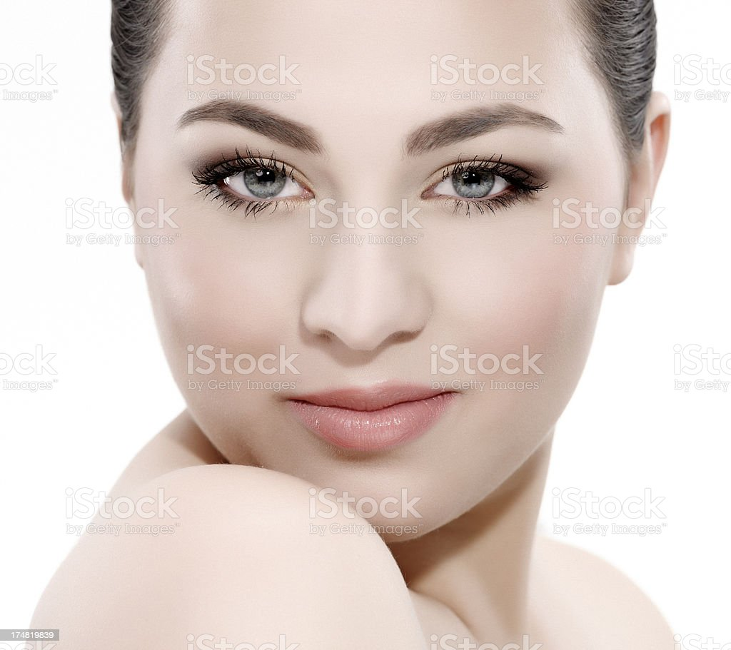 natural makeup royalty-free stock photo