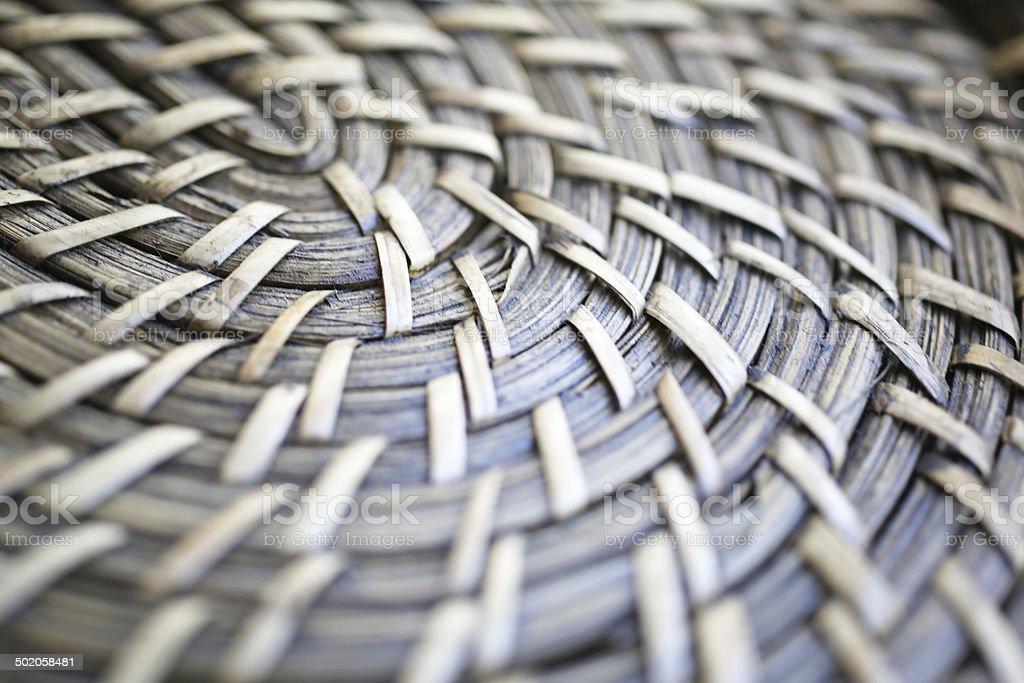 Natural material basket texture stock photo