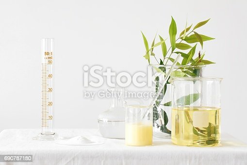 istock Natural medicine, Equipment and science experiments, Formulating the chemical for medicine, Organic pharmaceutical, Alternative medicine concept. 690787180