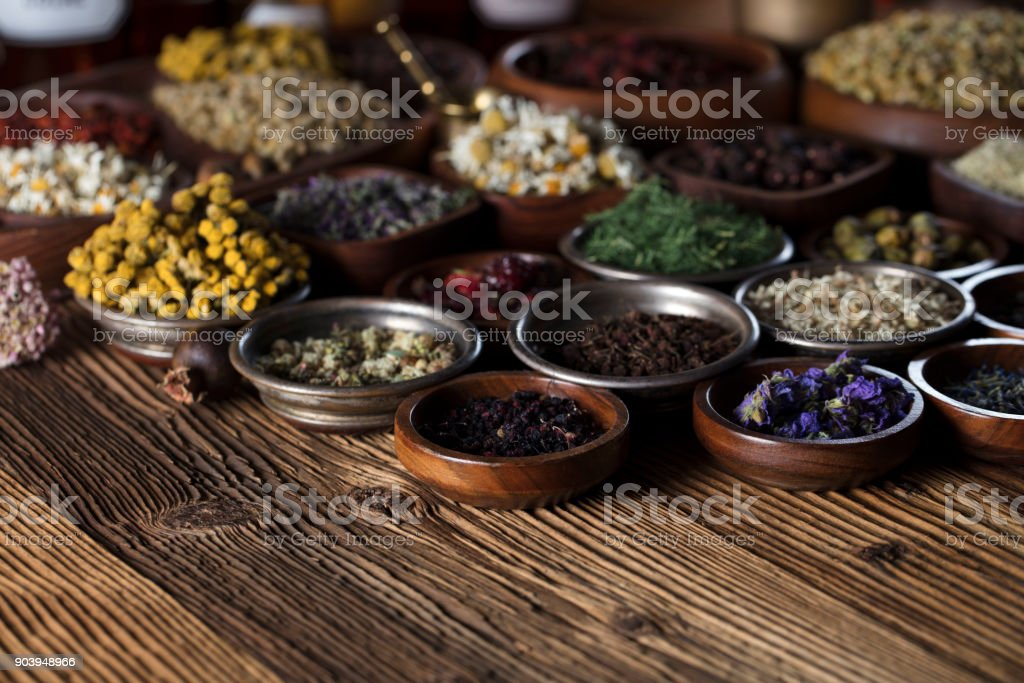 Natural medicine. stock photo