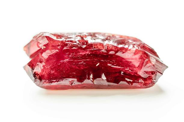 Natural mineral crystal red ruby stock photo