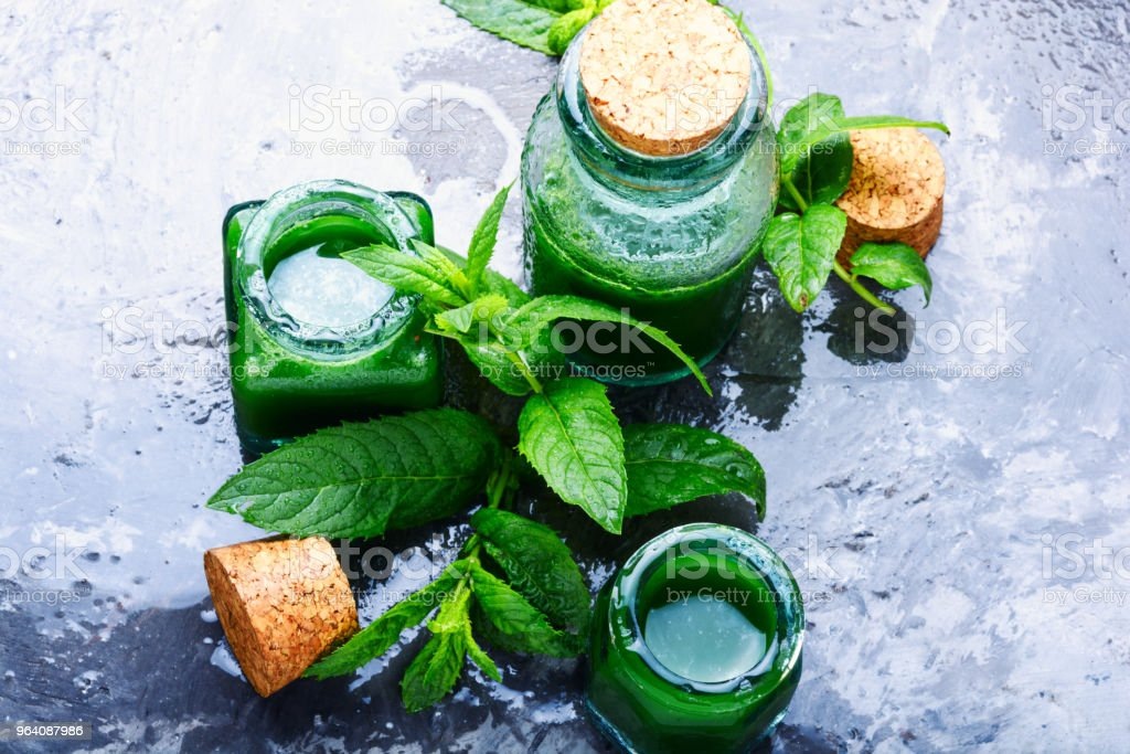 Natural mint essential oil - Royalty-free Aromatherapy Stock Photo