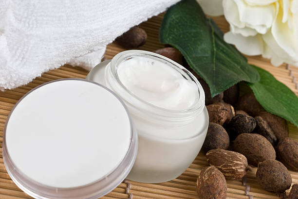 Crema idratante naturale - foto stock