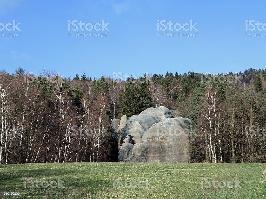Natural monument -  Elephant Rocks stock photo
