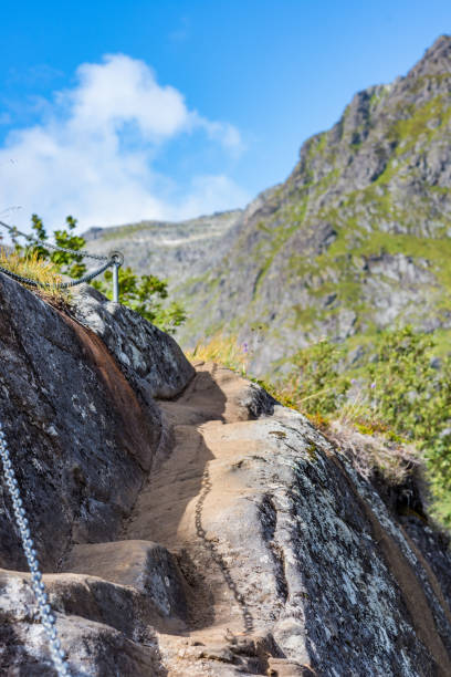 Natürliche Berglandschaft im Sommer in Lofoten, Norwegen. – Foto