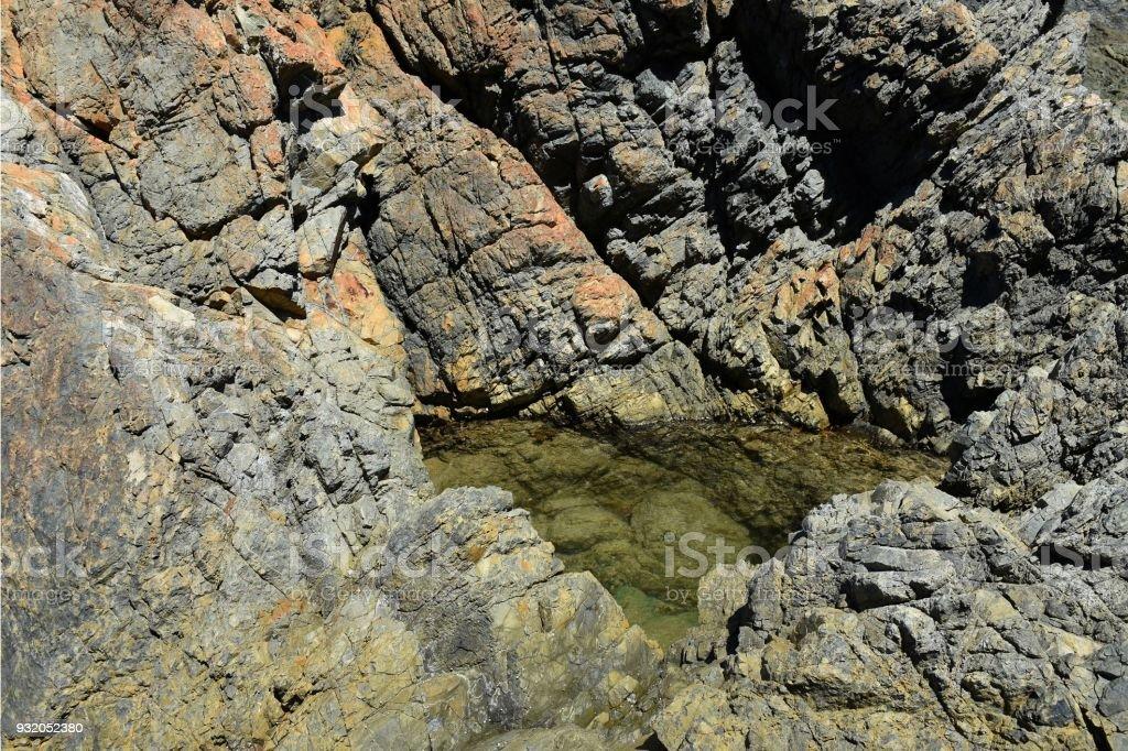 Natural ocean rock pool stock photo