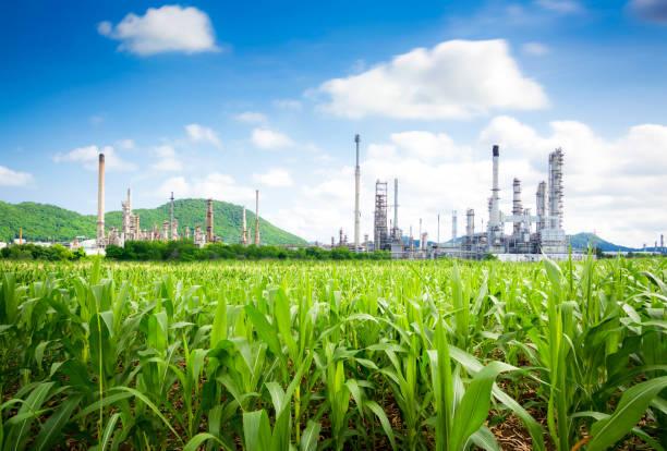 Natürliches Öl-Raffinerie und Erdgas Raffinerie – Foto