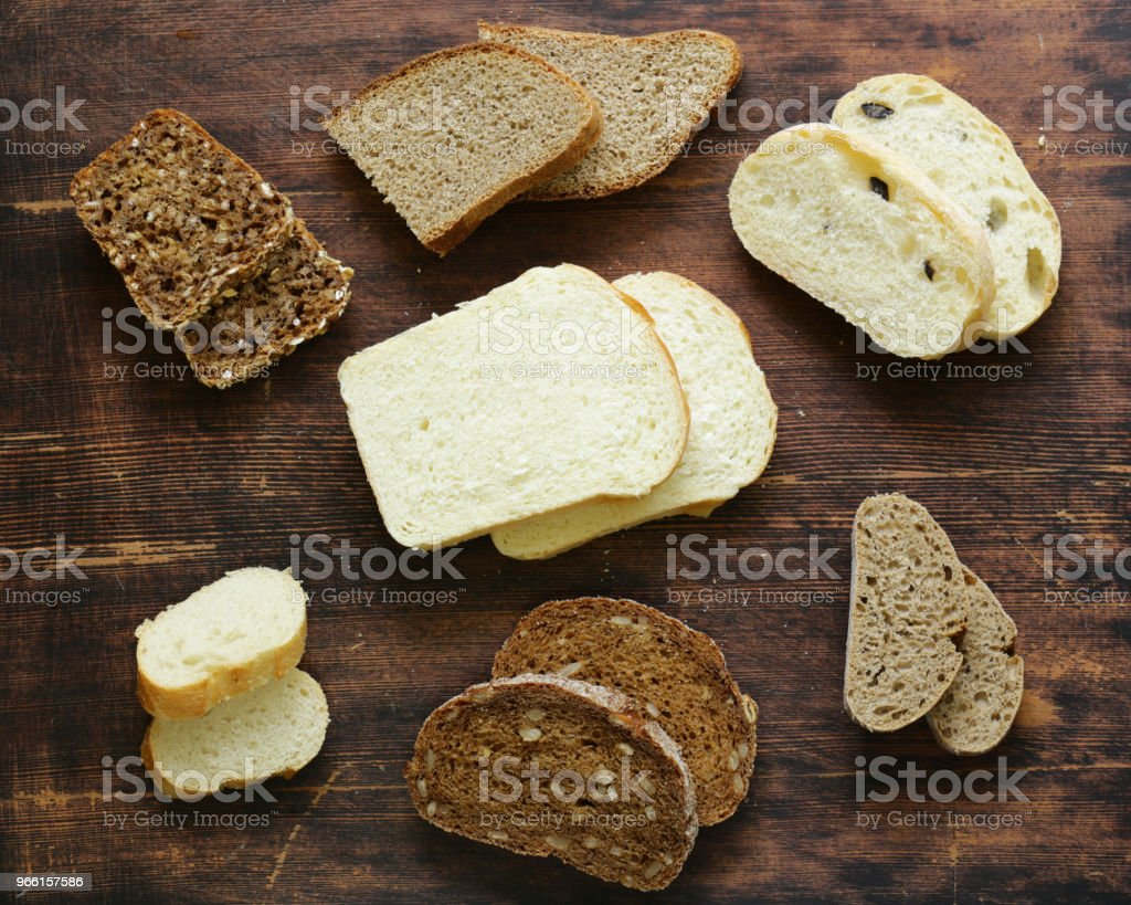 natural organic bread assortment - Royalty-free Baguette Stock Photo