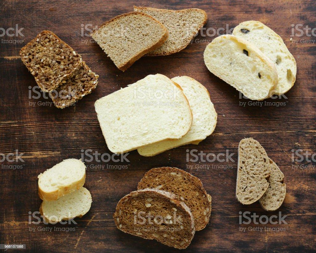 natürliche Bio-Brot Sortiment - Lizenzfrei Baguette Stock-Foto