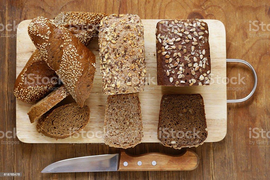Natural organic bread made from whole wheat flour foto de stock libre de derechos