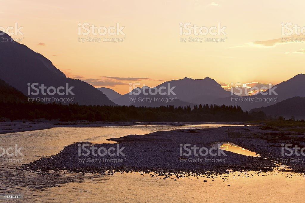Natural park Lechtal royalty-free stock photo