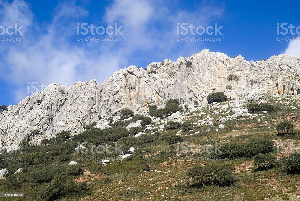 Natural park Sierra de las Nieves, Andalusia, Spain royalty-free stock photo