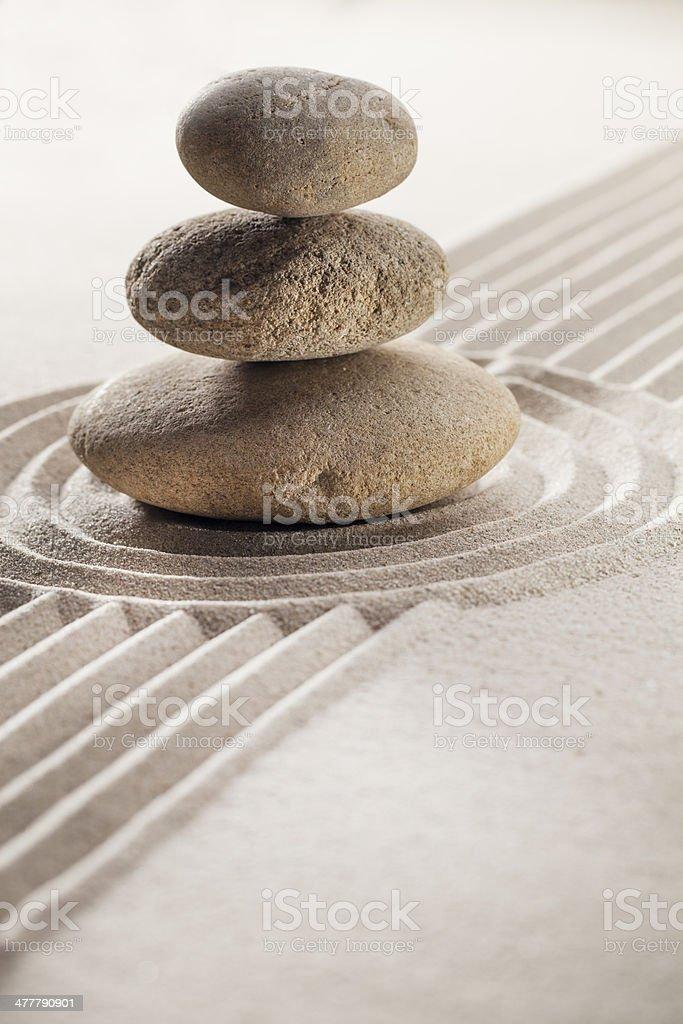 natural peace with balancing stones royalty-free stock photo