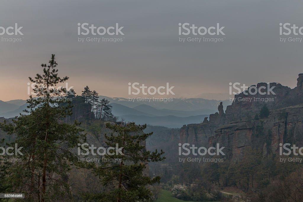 Natural phenomenon Belogradchik Rocks, Bulgaria stock photo