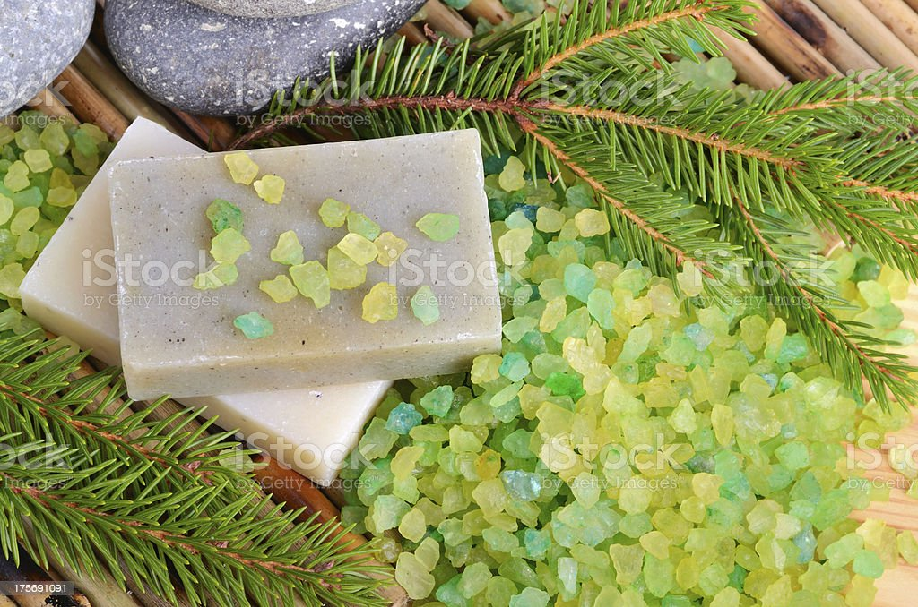 Natural pine spa treatment royalty-free stock photo