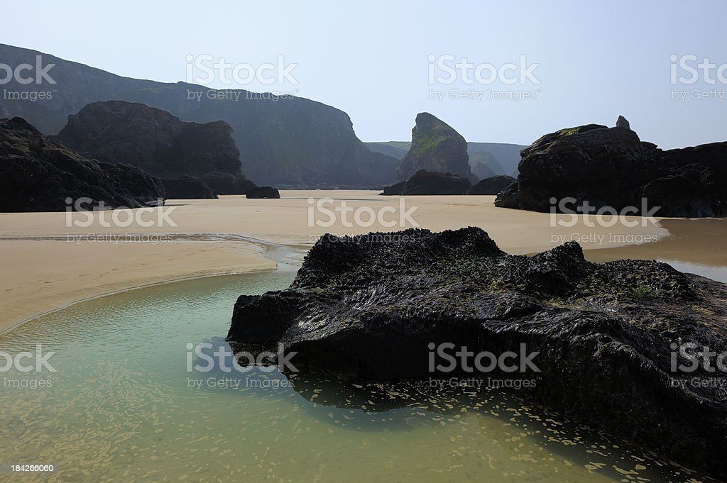 Natural Pool At Bedruthan Steps stock photo