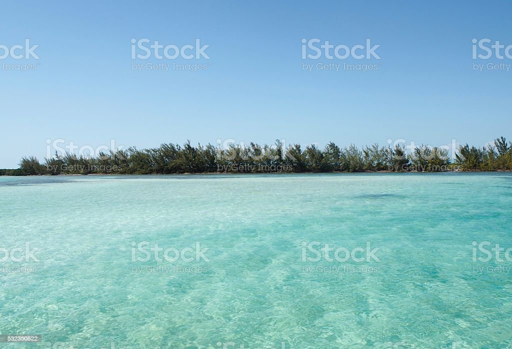 Natural pool in Cayo Largo stock photo