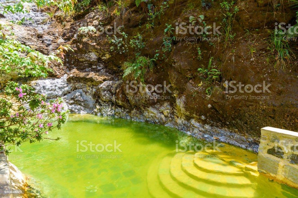 Natural Pool Of Fuentes Georginas Hot Springs Around Zunil And