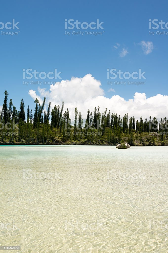 Natural Pool on the Isle of Pines in New Caledonia stock photo