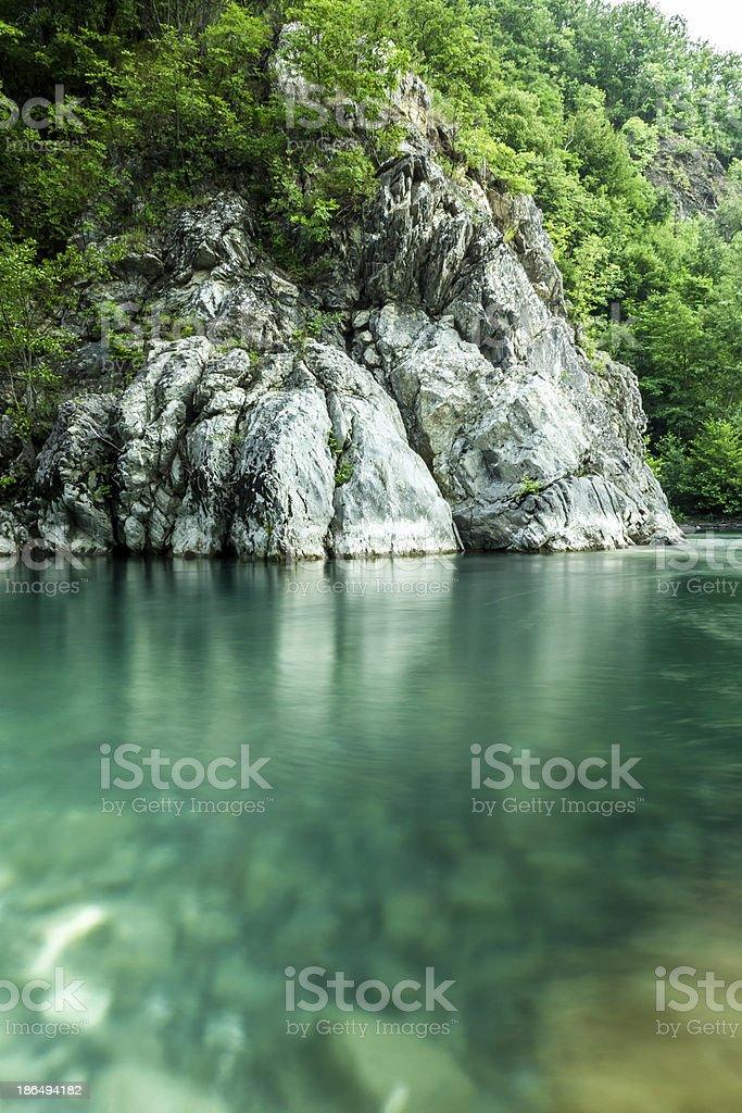 Natural pool royalty-free stock photo