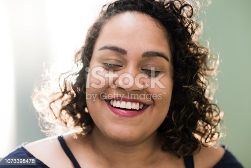 Natural portrait of a woman feeling good