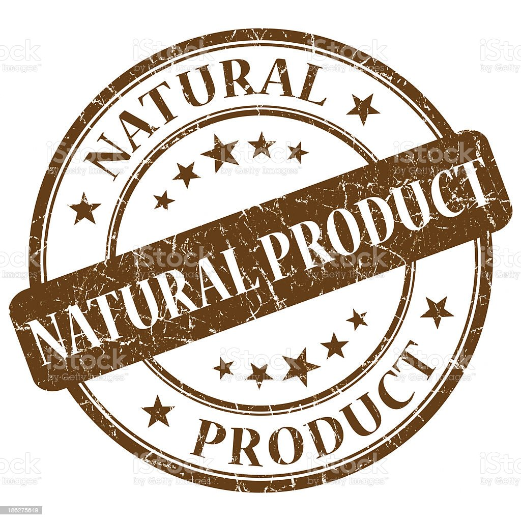 natural product brown stamp stock photo