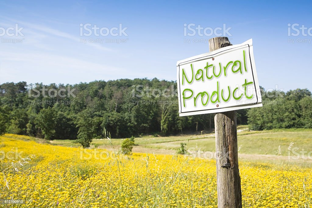 Natural Product concept image stock photo