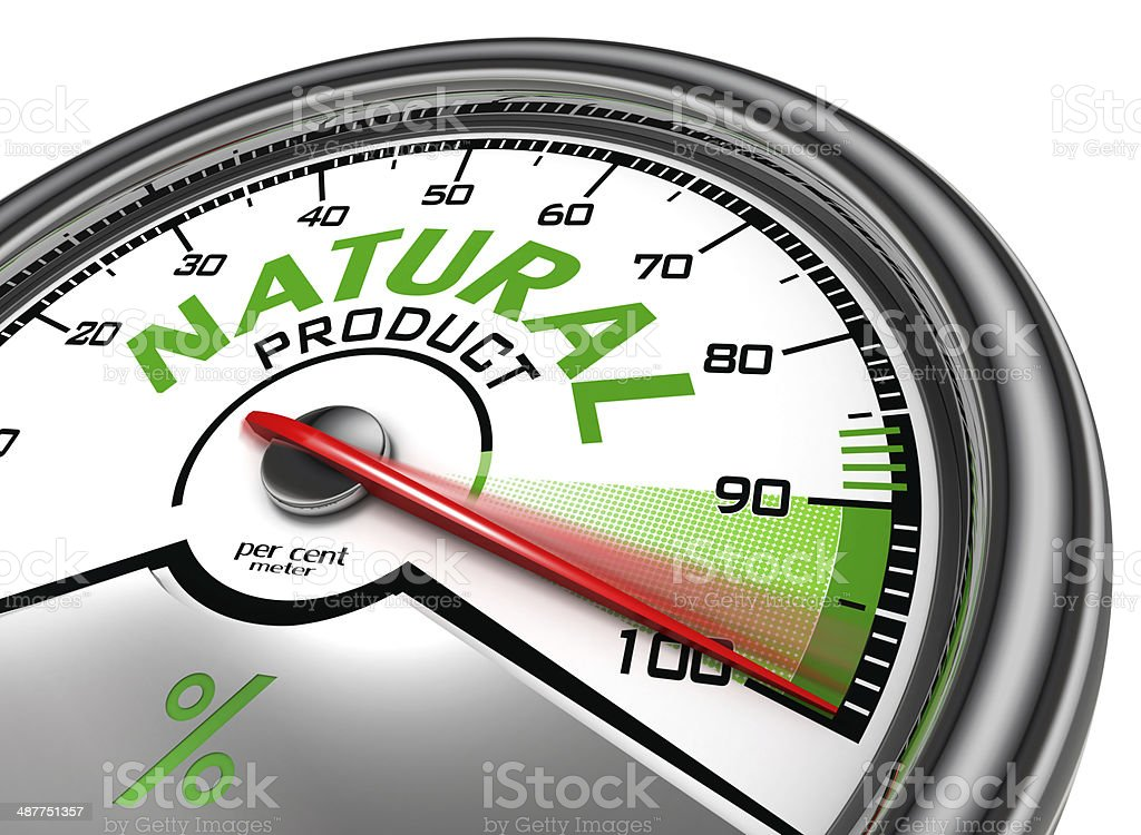 natural product conceptual meter stock photo