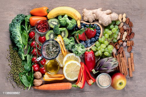istock Natural products rich in antioxidants and vitamins 1138658862