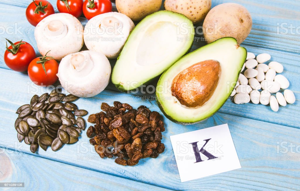 Ingredients or products containing potassium , natural sources of...