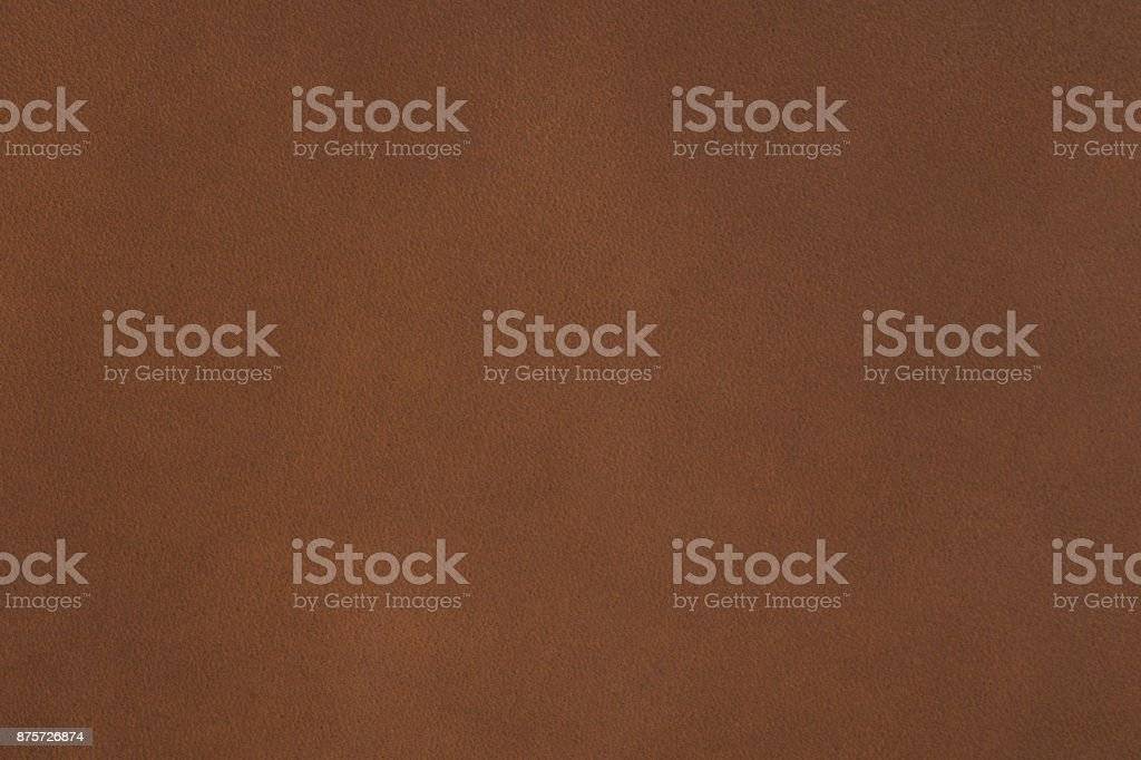Natural qualitative brown leather texture on macro stock photo