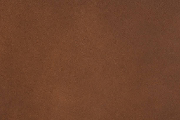 natural qualitative brown leather texture on macro - brown stock photos and pictures