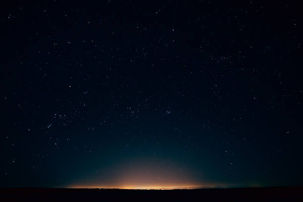 Natural Real Night Sky Stars Background Texture stock photo