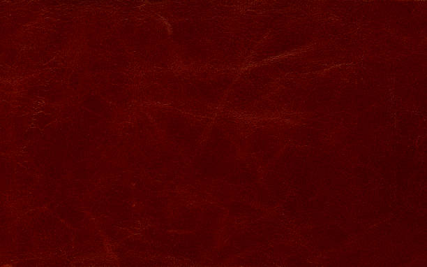 Natural red leather texture Natural pattern Genuine red leather background stock photo