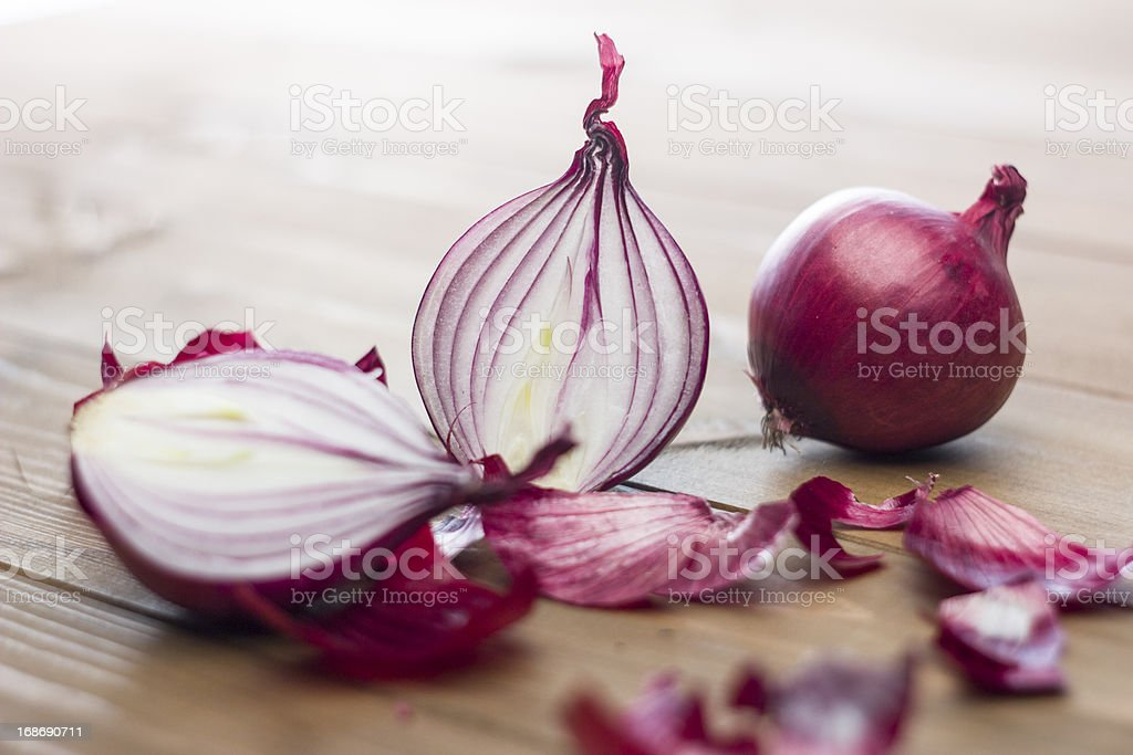 Natural red onion stock photo