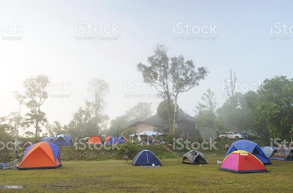 Natural relaxed camping royalty-free stock photo