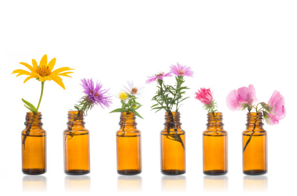 Natural remedies, bottle -  bach. stock photo