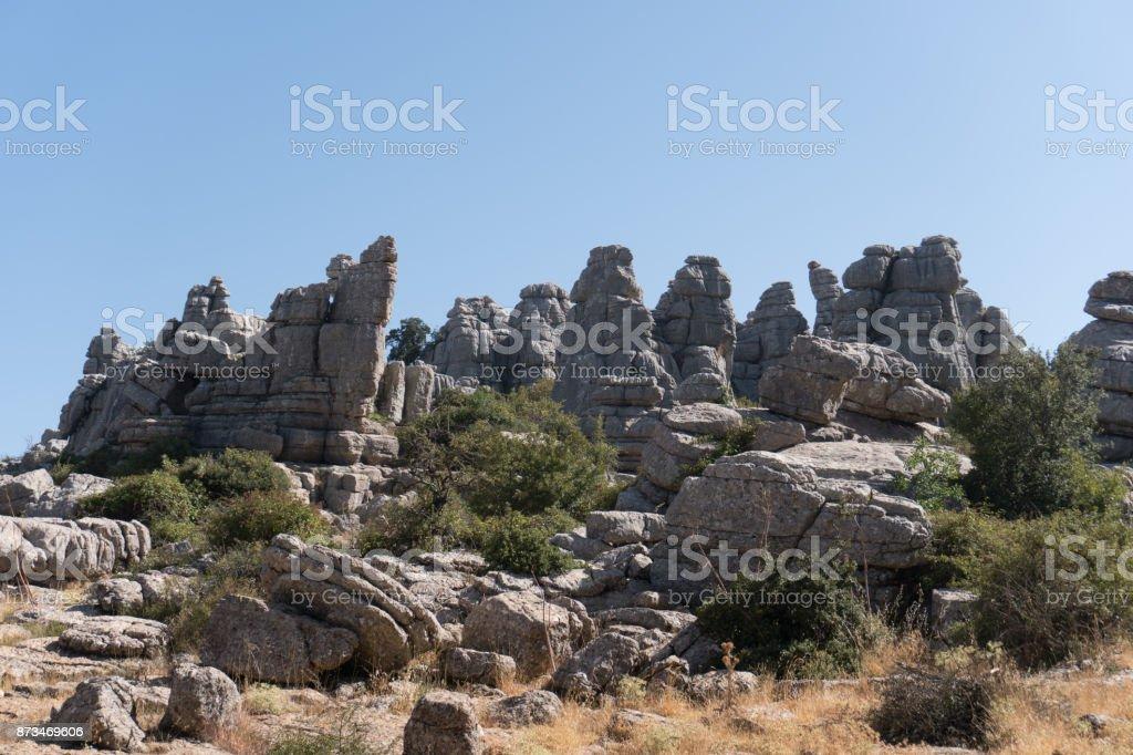 Natural Reserve El Torcal, Antequera Spain stock photo