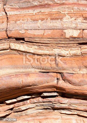 Ancient rock strata in  Karijini National Park, Western Australia.