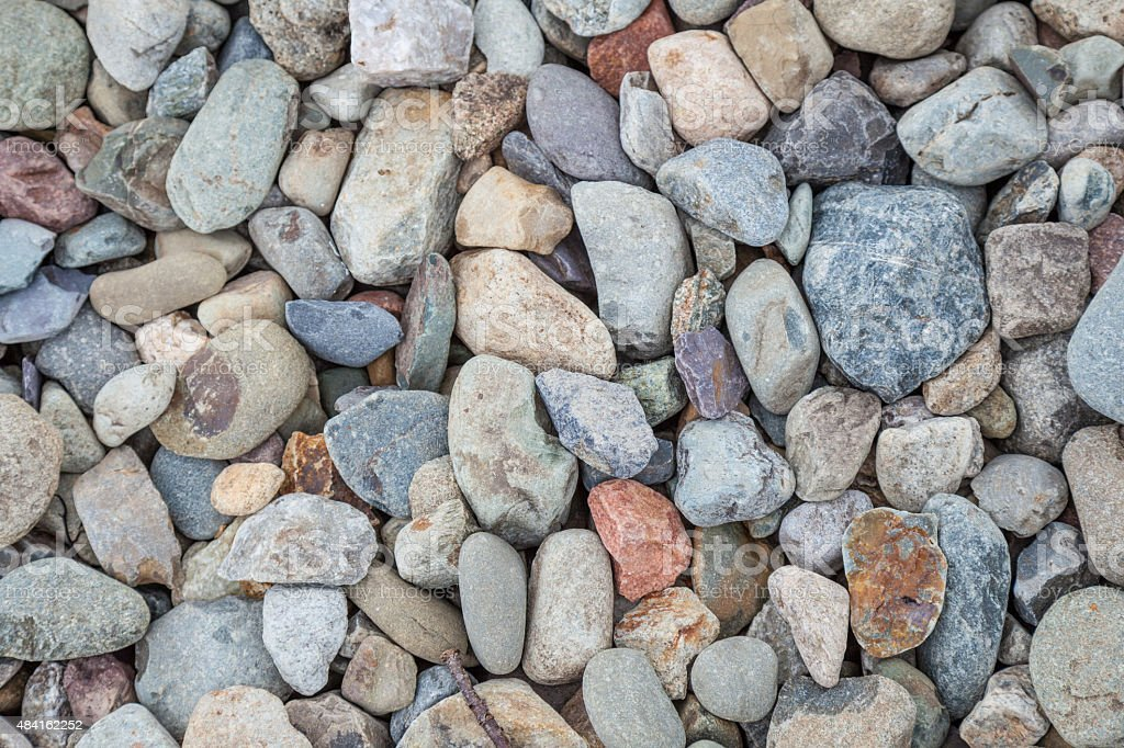 Natural rock pebble backgorund stock photo
