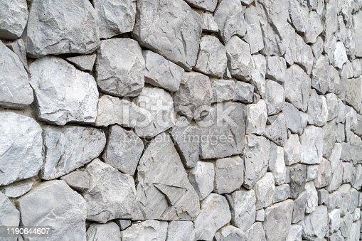 Natural rock stone wall