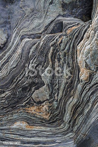 Natural rock texture background on the beach in the north of Spain