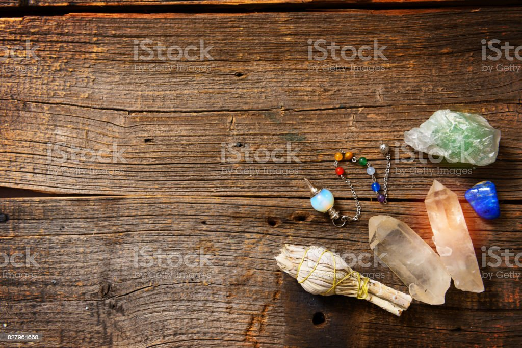 Natural rocks and white sage stock photo