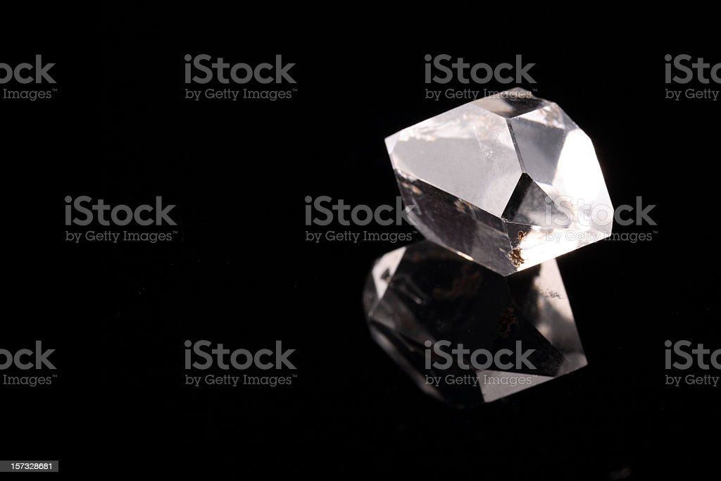 Natural Rough Diamond stock photo