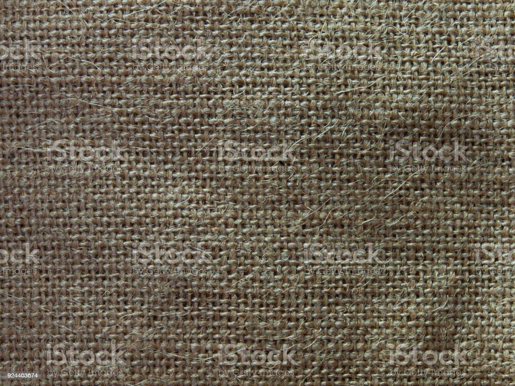 Natural sackcloth texture. stock photo