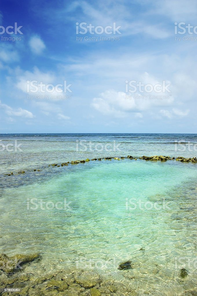 Natural Salt water swimming pool royalty-free stock photo