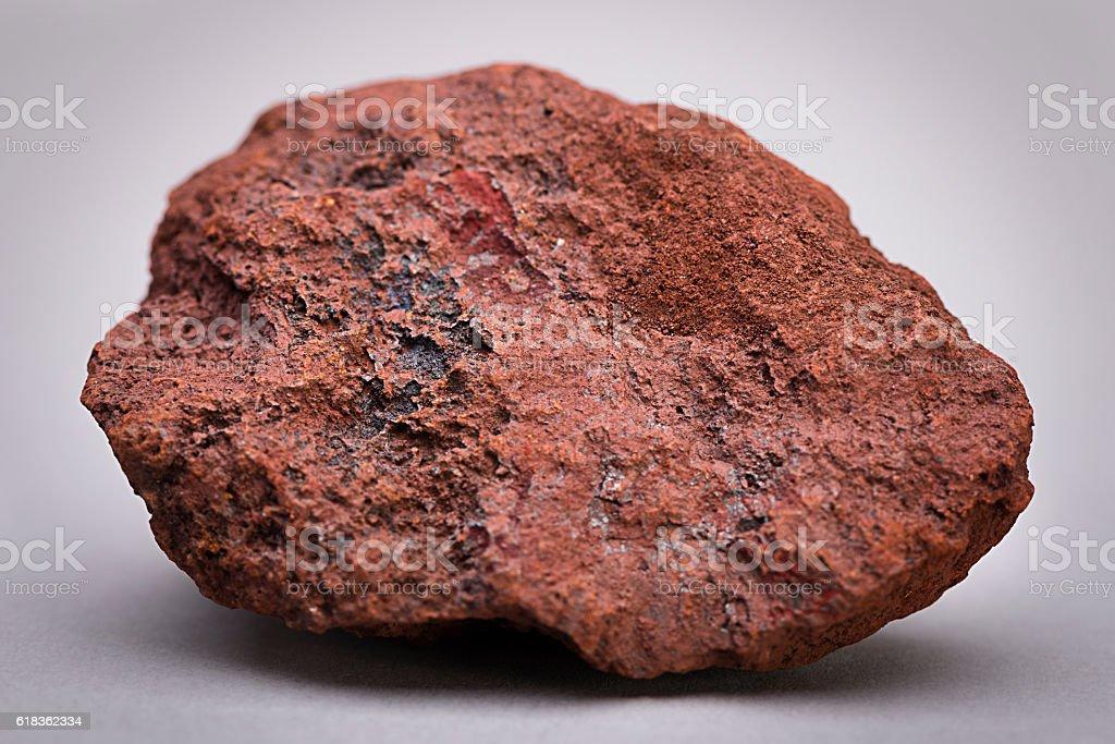 Natural Sample of Iron Ore stock photo