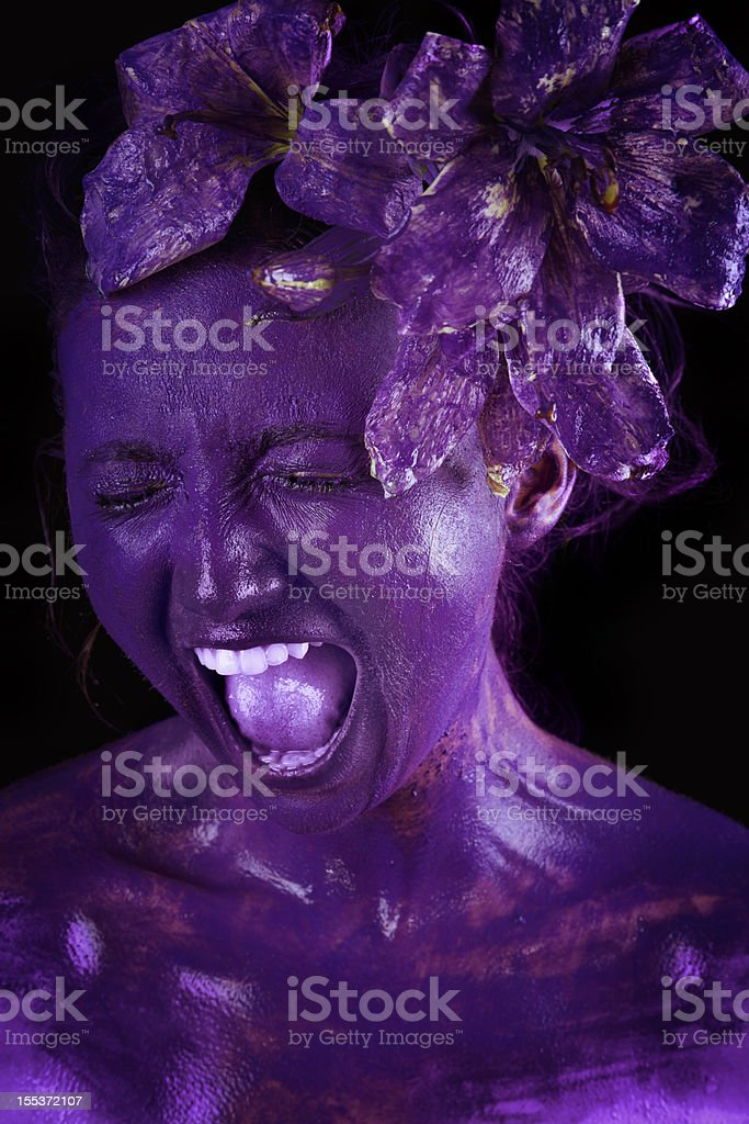 Natural Scream royalty-free stock photo
